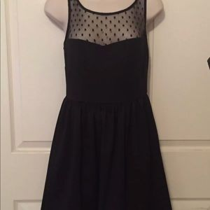 Black lace dress sweetheart neckline NWT